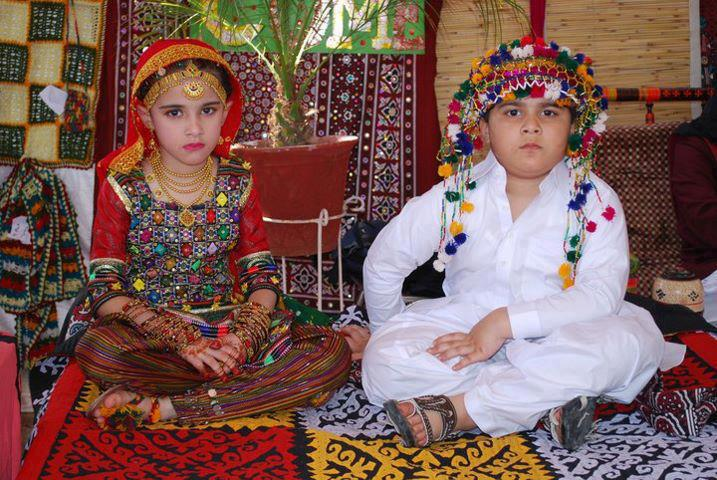 Babies In their cultural dress Of Sindh